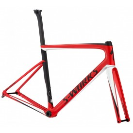 Specialized Sw Tarmac Men Sl6 Disc Frmset, Flored/metwhtsil/blk