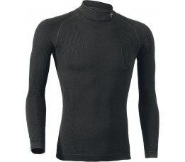 Seamless Underwear Ls Roll Neck Blk M/l