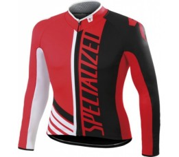 Specialized Therminal Pro Racing Jersey Ls Red/blk/wht M
