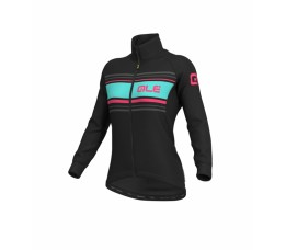 ALE Donna jacket solid black-fluo pink mt L