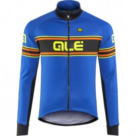 ALE jacket Solid blue-fluo yellow mt XL