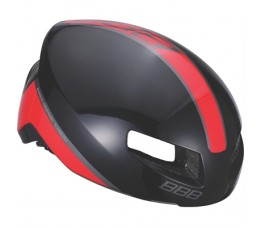 BBB BHE-08 Helm Tithon M Glossy Zwart/rood
